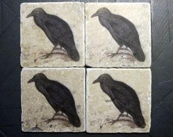 Crow Coasters Etsy