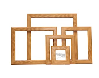 oak picture frames from 4x4 20x30 or larger custom sizes for art photography