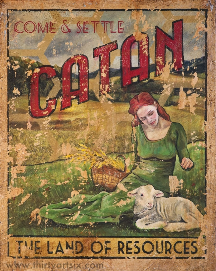 This is a picture of Tactueux Settlers of Catan Printable