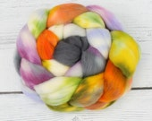 Polwarth Spinning Fiber - Sally's Song - Hand Dyed - 6 oz - Ready to Ship