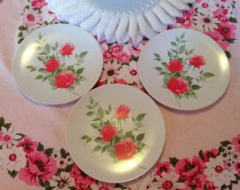 Pretty Pink Flower Plates