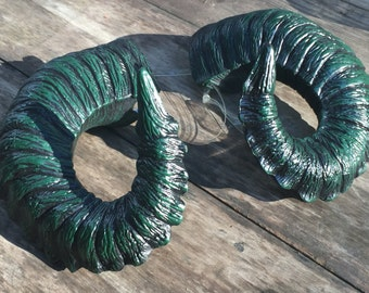 "Ram Horns, ""Fangorn"" the Greenman - Wearable Pan Horns - cosplay, fay, forest folk, versatile style"