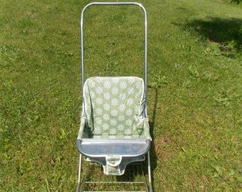 1960s-70s Era Taylor Lot Baby Stroller Green Floral