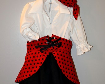 18m-2T Girls  Halloween Costume, Pirate, Gypsy, Renn Fair, Pirates of the Caribbean,