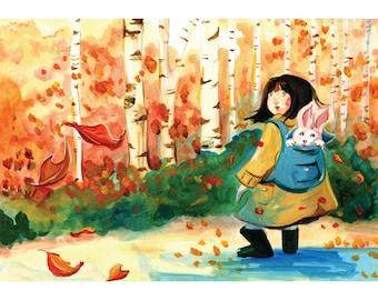 "8x10"" Autumn Forest Art Print"