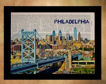 Philly Skyline Etsy