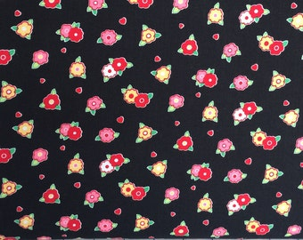 Lakehouse Quilt Fabric Tiny Floral by the yard LH12054 Black