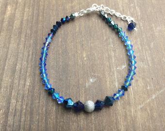 Blue/Violet Crystal Bracelet