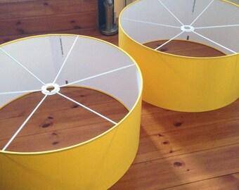 Yellow Drum Lampshade/ modern lampshade/ ceiling lampshade/ table lamp