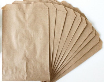 """Lot of 50 6.25"""" x 9.25"""" kraft paper treat / cookie / goody / merchandise / gift / retail / store / shop / boutique / craft fair / bags"""