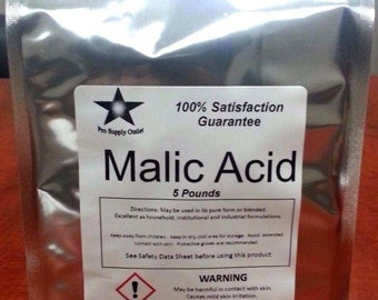 Malic Acid FCC/ Food Grade 5 Lb Pack 9906