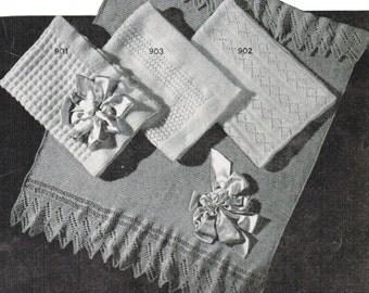 Vintage Baby Afghan Patterns PDF / Set of 4 Monarch baby blanket patterns / Baby blanket knitting patterns / PDF / Prinsesseteppet