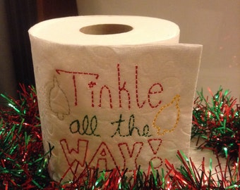 Christmas Toilet Paper Embroidery Design