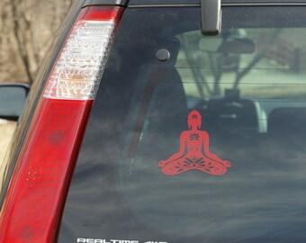 SITTING BUDDHA DECAL 5'
