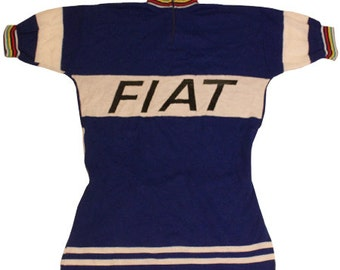 70's vintage FIAT cycle jersey made in Belgium