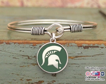 Michigan State Spartans Iridescent Round Bracelet