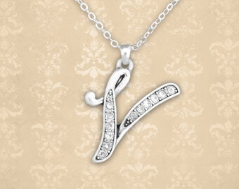 V Initial Necklace - 54388