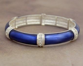 Navy Jillian Stretch Bangle Bracelet - 57722
