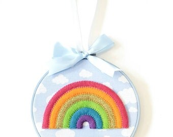 Rainbow 'In The Sky' Hoop Art in 'Bright'