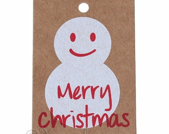Merry Christmas Paper Tags - 20/50/100 Snowman Wholesale Price, Clothing, Jewelry, Gift Tags P2917