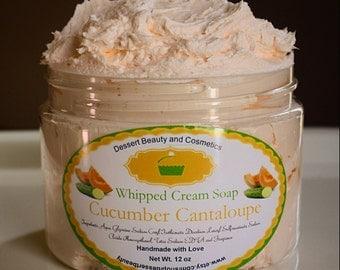 Cucumber Cantaloupe Whipped Cream Soap
