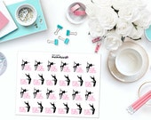 POLE DANCING CLASS Paper Planner Stickers!