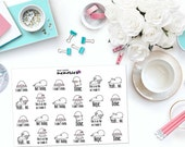 "KAWAII ""Can't Even"" LAMBS / SHEEP Paper Planner Stickers!"