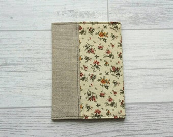 Fabric Passport Cover - Floral - Travel - Holiday - Lined