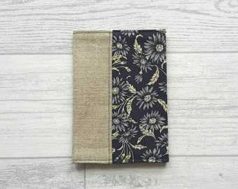 Fabric Passport Cover - Linen - Floral - Travel