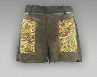 Vintage Kimono Shorts