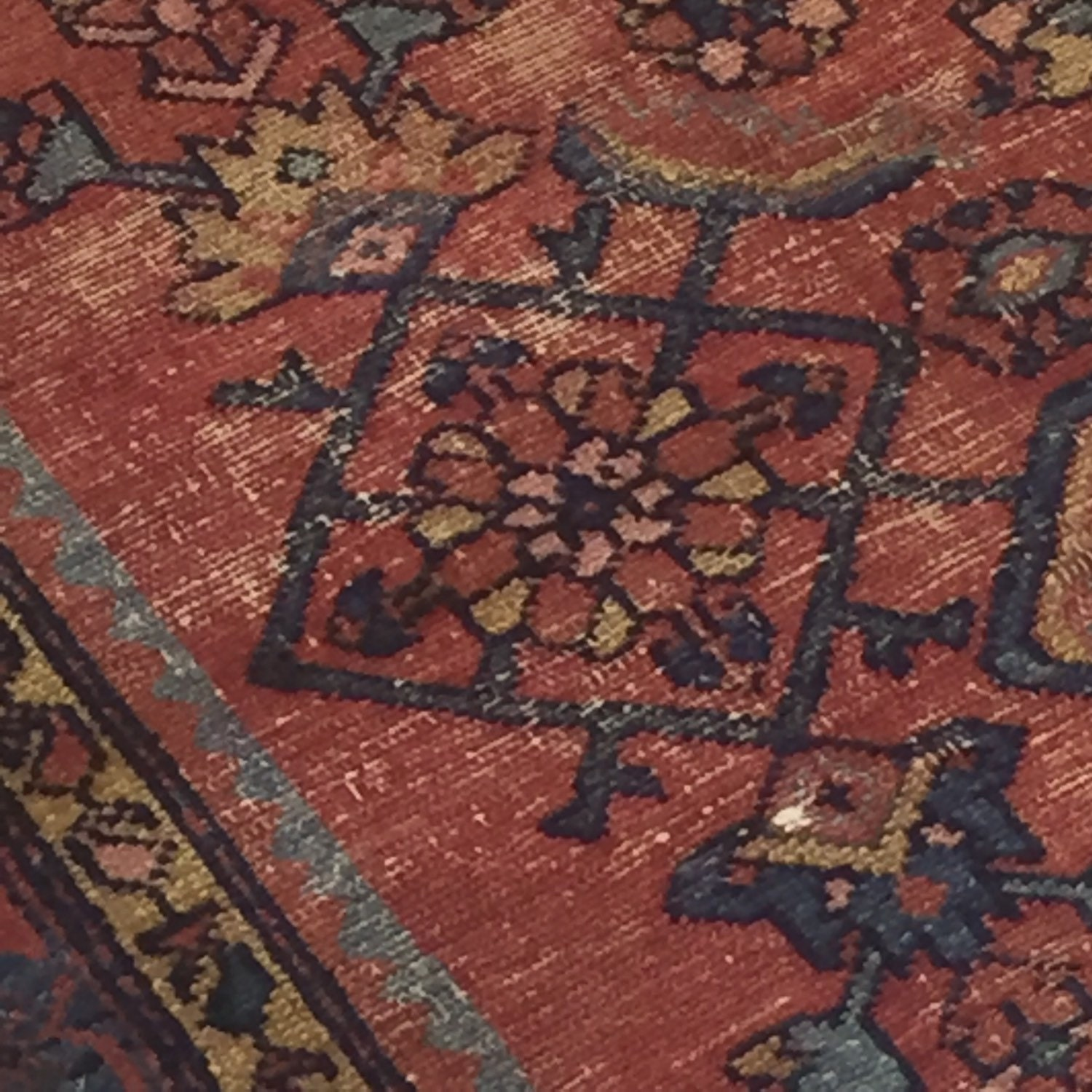 Reduced Gorgeous Vintage Persian Rug Pink And Navy Fade