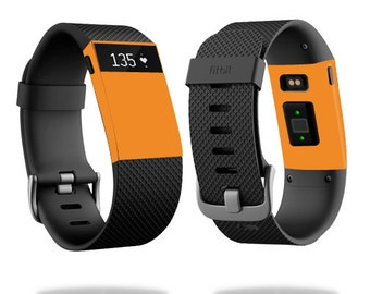 Skin Decal Wrap for Fitbit Blaze, Charge, Charge HR, Surge Watch cover sticker Solid Orange