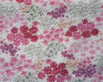Red,Pink Yellow,Purple flower. Japanese cotton fabric. Japanese fabric. Fabric by half meter or 1/2 yard