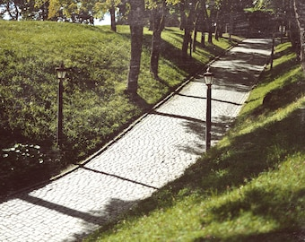 Akershus Alley, original fine art photography, print, oslo, norway, fortress, walkway, green, vintage, summer, old, architecture
