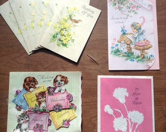 Set of 4 Different Thinking of you Cards, Six of one kind