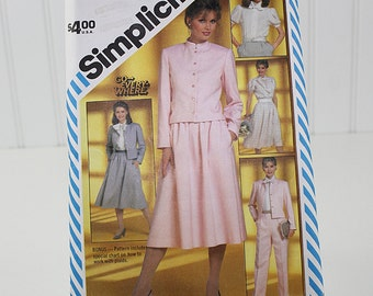 80s Jacket, Skirt and Pants Pattern, Uncut Sewing Pattern, Simplicity 5834, Size 14