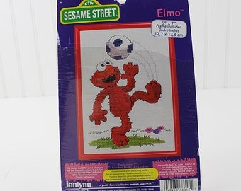 """Elmo Counted Cross Stitch Kit, Dimensions, 5""""x7"""" Frame Included, K157S"""
