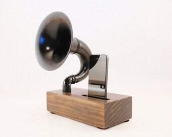 Acoustic Speaker, iPhone Speaker for iPhone 4/5/6, Horn Speaker, Wireless Speaker, iPhone Amp, iPhone Dock, iPhone Stand, Speaker