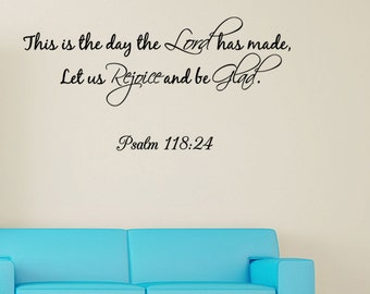 This Is The Day The Lord has made Wall quote Decal Wall Sticker Bible Verse new J263