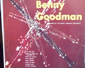 The Era of Benny Goodman, Vintage Record Album, Vinyl LP, Members of Benny Goodman Orchestra, Modern Records Label, Big Band, Jazz Swing