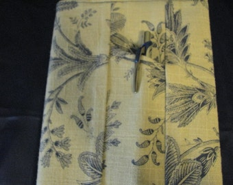 New item!  Fabric covered womans journal or diary