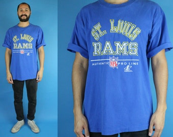 90s St Louis Rams Tshirt, Vintage Rams Tee, St Louis Rams Football, 90s Tshirt, size Large
