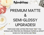 Premium Upgrade! Buy ONE PER SHEET of stickers please! Only Premium Matte available.