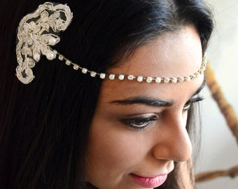 Wedding headchain, Bridal Headpiece,  Wedding headpiece, bridal headchain