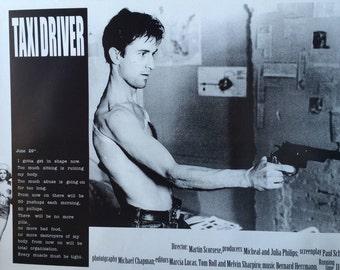 Taxi Driver Robert Diniro poster 24 x 33