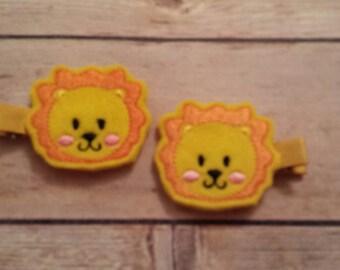 Cute Lion hair clips