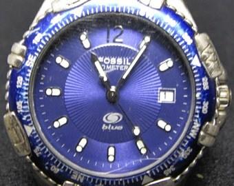 FOSSIL BLUE Mens Quartz Watch AM-3059 60 Meters