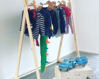 Solid Pine Clothing Rack, A Frame Clothes Rack, Garment Rack, Clothing Rack, Wooden Clothes Rack, Ecofriendly, Market Display
