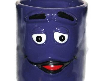 Vintage Coffee Grimace Coffee Mug Cup McDonalds Purple Guy