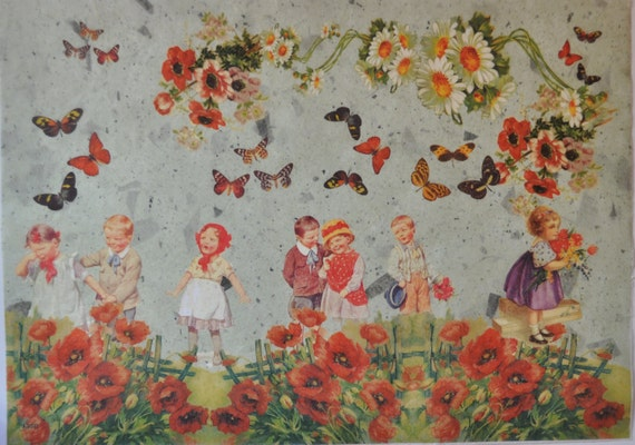 Decorative Painting Batik On Rice Paper